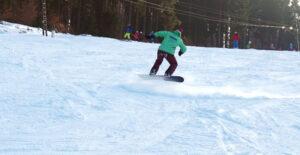Snowboardtrick Backside 3er